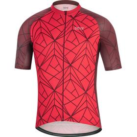 GORE WEAR C3 Koszulka kolarska, krótki rękaw Mężczyźni czerwony